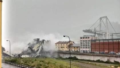 Два матчі чемпіонату Італії перенесли через обвал мосту в Генуї