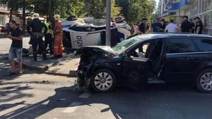 Люди истекали кровью на тротуаре: видео жуткой аварии в Сумах с автомобилем полиции (18+)