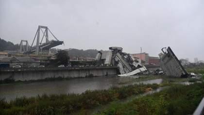 Обвал моста в Генуе: появилось видео момента страшной катастрофы