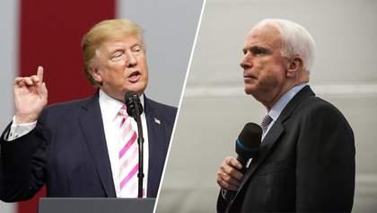 Антипатія між Маккейном і Трампом не вщухла навіть після смерті сенатора, – CNN