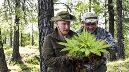 """Збирав """"марихуану"""": соцмережі глузують з вікенду Путіна"""