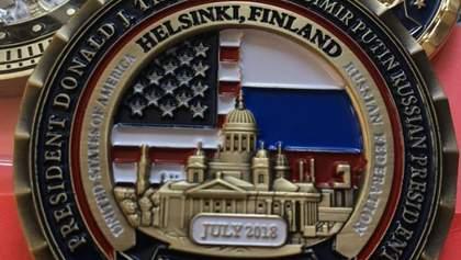 Белый дом выпустил монету в честь саммита Трампа и Путина в Хельсинки