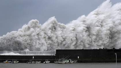 Опасный тайфун в Японии без света остаются более 350 тысяч домов