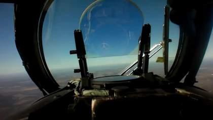 Российский беспилотник сбили над Лисичанском: появилось впечатляющее видео