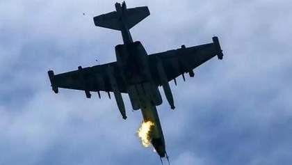 Падение самолета Су-27: очевидцы сняли на фото момент после аварии