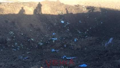 Авария самолета Су-27: местные жители показали фото и видео с места падения