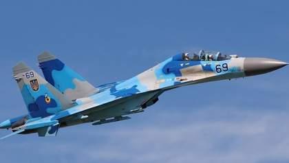 Падение самолета Су-27: на месте катастрофы зашли черный ящик