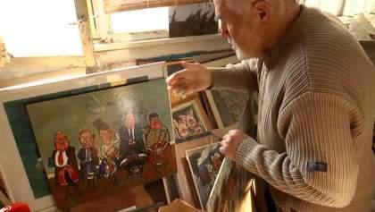 """""""Дефективні, слизькі, неприємні"""": художник 60 років малює карикатури на політиків"""