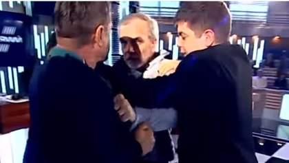 Нардеп Мусий и активист Шерембей устроили жесткую драку в эфире: видео