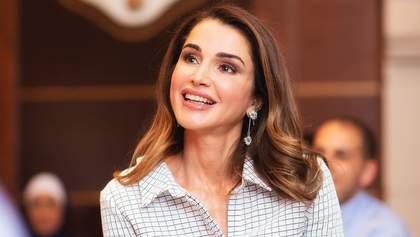 Королева Иордании в изысканном платье посетила Македонию: элегантные фото