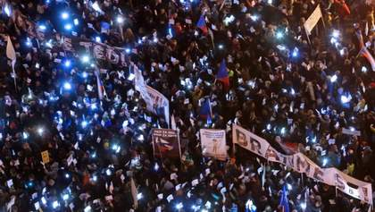 """""""Это не Россия"""": появились фото и видео массовых антиправительственных протестов в Чехии"""