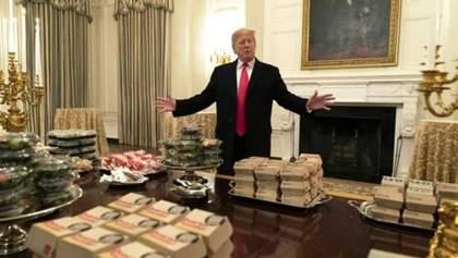 Из-за нехватки персонала Трамп заказал на прием в Белом доме фастфуд