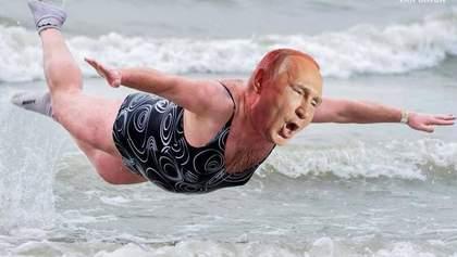 Путин нырнул в прорубь, но, к сожалению, вынырнул: реакция соцсетей на купание президента РФ