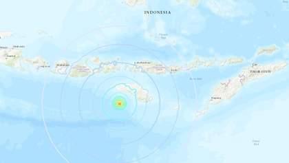 У берегов Индонезий случилось сильное землетрясение