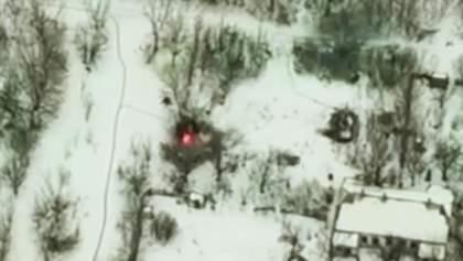 Українські військові знищили БМП проросійських бойовиків на Донбасі: яскраве відео