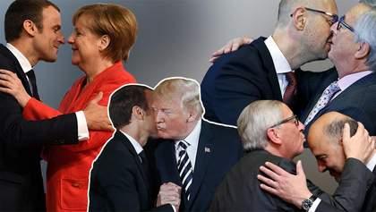 Жаркие поцелуи и объятия мировых лидеров и украинских политиков: эпичные фото вас удивят
