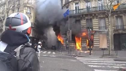 """Суботні протести """"жовтих жилетів"""": багато травмованих та сутички з поліцією"""