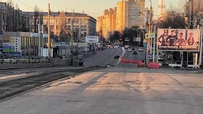 Как демонтируют многострадальный Шулявский мост в Киеве: первые фото