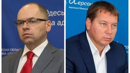 Кабмін звільнив Степанова і Гордєєва з посад голів Одеської та Херсонської областей
