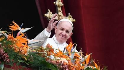 Папа Римский упомянул Украину в послании на Пасху