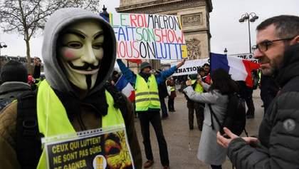 """Майже 23 тисячі """"жовтих жилетів"""" вийшли на акції протесту у Франції"""