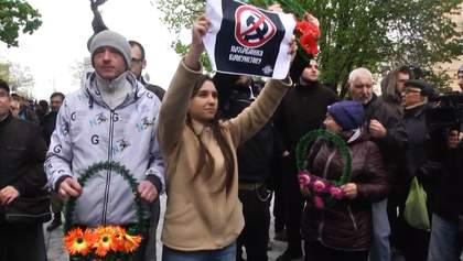 У Харкові відбувся бій тюльпанами між прихильниками 1 травня і учасниками акції з декомунізації