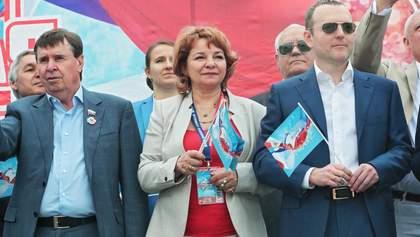 Матір дуету ANNA MARIA засвітилася на параді окупантів у Криму