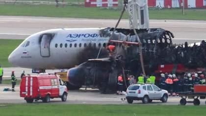 """Авіакатастрофа в """"Шереметьєво"""": відео перших хвилин евакуації пасажирів"""