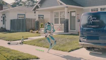 Ford створив двоногих роботів-кур'єрів: відео