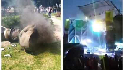 Головні новини 2 червня: в Харкові знесли Жукова, трагедія на Kozak Fest