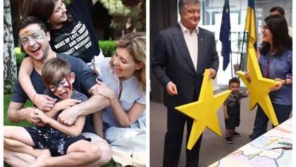 Зеленский в аквагриме и раскраска у Порошенко: что в День защиты детей постят политики
