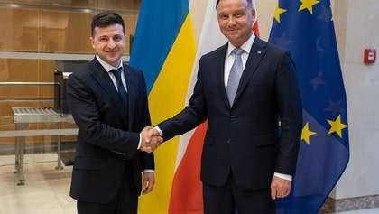 Зеленский встретился с Дудой и рассказал, как настроен в отношении Польши
