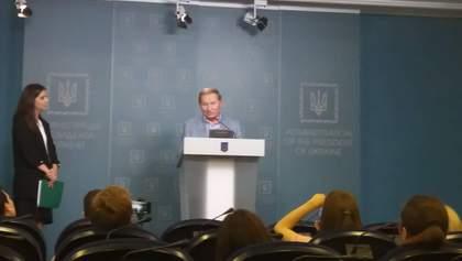 Кучма: Украина не будет отвечать на провокационные обстрелы на Донбассе