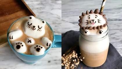 Художница создает 3D-шедевры на кофе: потрясающие фото и видео