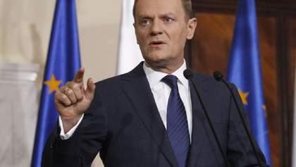 """Дональд Туск назвав Україну """"своєю стороною"""" розведення військ на Донбасі"""