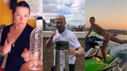 Bottle cap challenge: как Стэйтем, Дженнер, Могилевская и другие эпатируют в сети