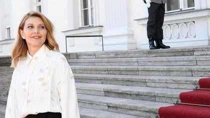 Парламентські вибори 2019: у чому прийшла голосувати Олена Зеленська
