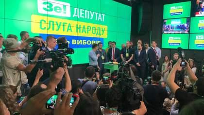 """Кандидати від """"Слуги народу"""" перемагають на всіх 13 округах по Києву, – підрахунок штабу"""