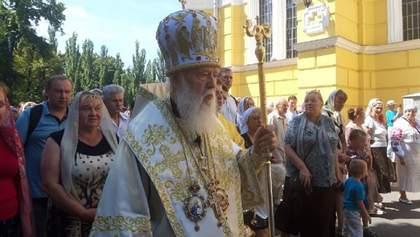 УПЦ Київського патріархату з Філаретом вийшла на невелику хресну ходу: фото