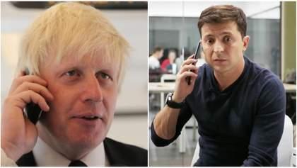 Зеленский провел первую телефонную беседу с новоизбранным премьером Великобритании Джонсоном