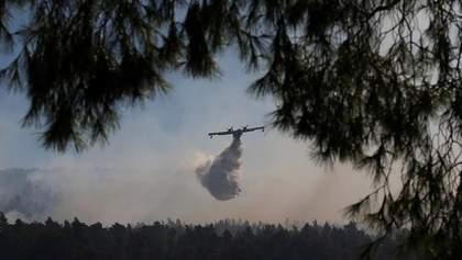 Страшна пожежа вирує у Греції: нові фото та відео з місця події
