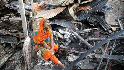 Страшный пожар уничтожил 15 тысяч домов в Бангладеше: фото, видео