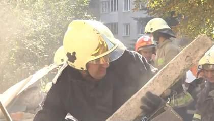 Обвал дома в Дрогобыче: спасатели отказались от версии взрыва газа