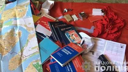 Взрывчатку, оружие и коммунистическую символику нашла полиция Николаева у группы воров