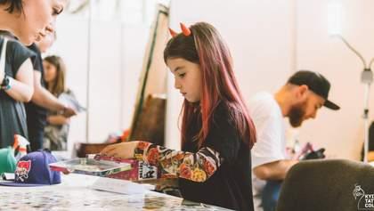 7-летняя одесситка стала самой юной мастерицей тату в Украине: яркие фото