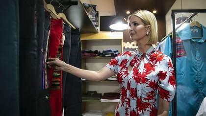 В ярком платье и на каблуках: Иванка Трамп побывала в Аргентине