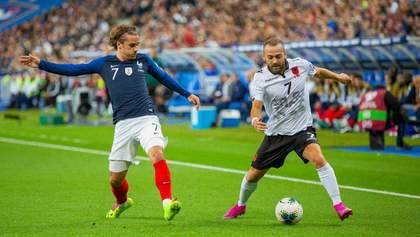 Матч Франція – Албанія розпочався зі скандалу: гості відмовилися виходити на гру через гімн