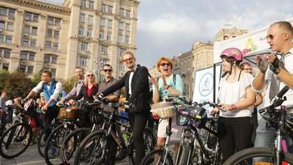 """Флешмоб """"Велосипедом на работу"""": есть проблемы с велодорожками в Киеве"""