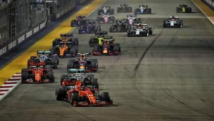 Ferrari оформила победный дубль на гран-при Сингапура, сейфти-кар трижды вмешивался в гонку