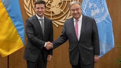 Зеленский обсудил с Генсеком ООН гуманитарную поддержку Украины